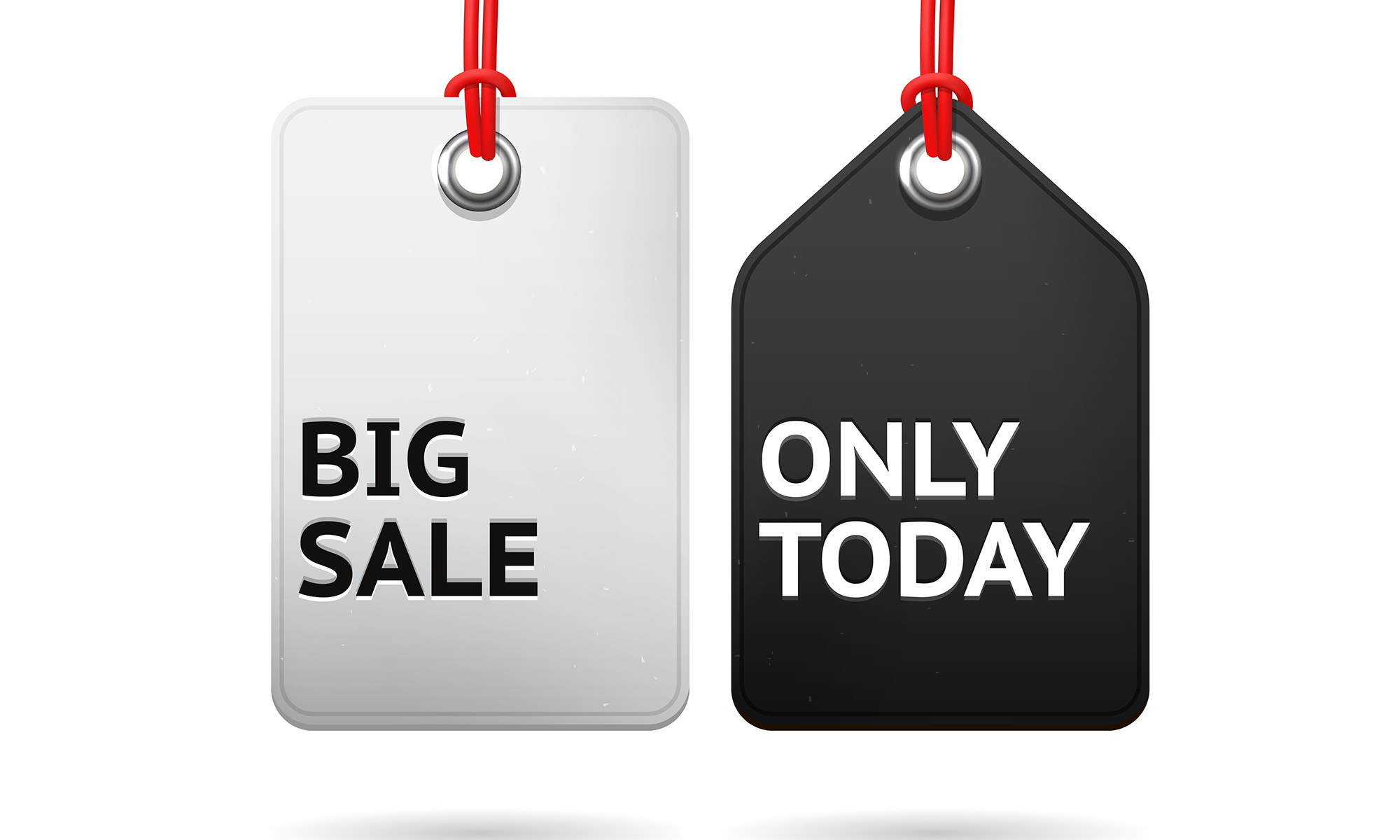 Big Sale Only Today Hanging Tags